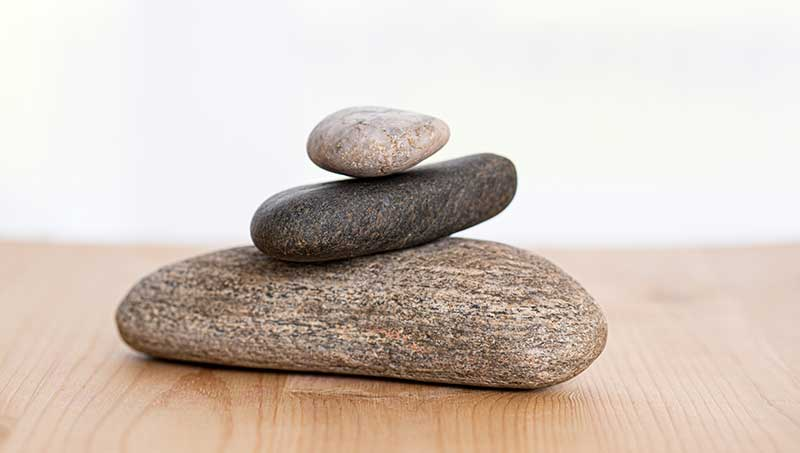 Steine als Symbol für den Therapieablauf